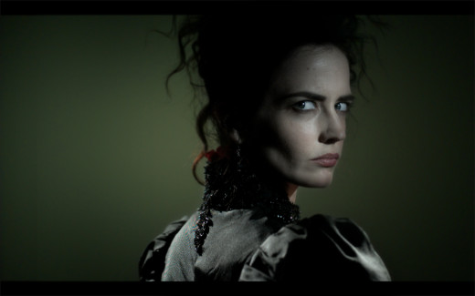 Eva Green (as Miss Ives with scowl on)