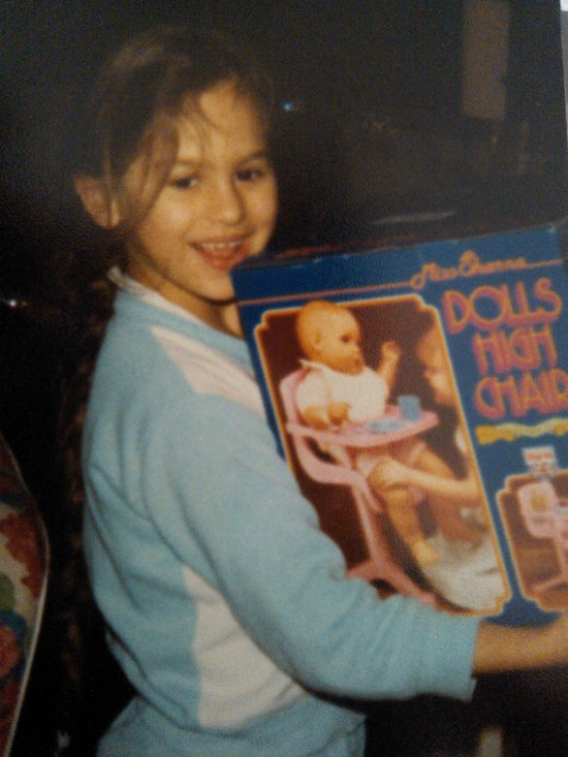 That pink high chair. Unbeaten - my favourite Christmas present ever! 1987.