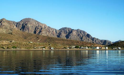 The northwest shore of San Evaristo Bay