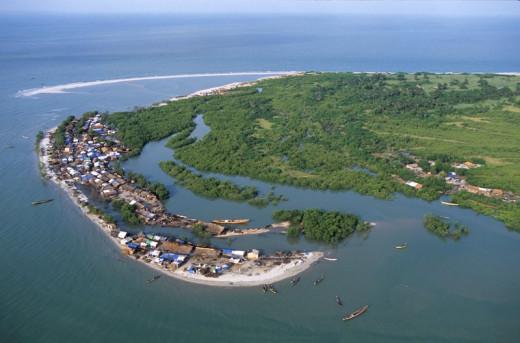 Mhoje Island in Guinea Bissau