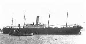 A photograph of the SS Californian.
