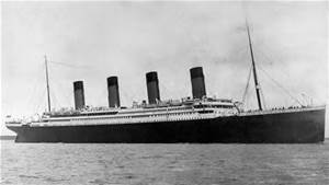 A photograph of the ill-fated RMS Titanic.