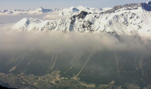 Smog due to Chamonix's very high pollution levels