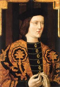 A portrait of King Edward IV, father of the princes.
