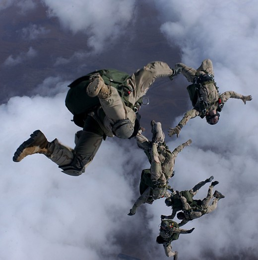 Real-life PJ's jump in support of Operation Enduring Freedom.