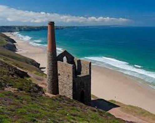 Tin mine in Cornwall.