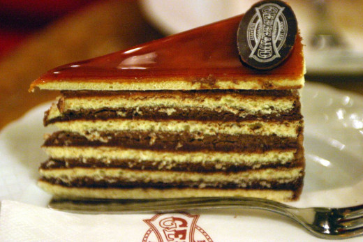 The Dobos cake, a beloved Hungarian sweet.