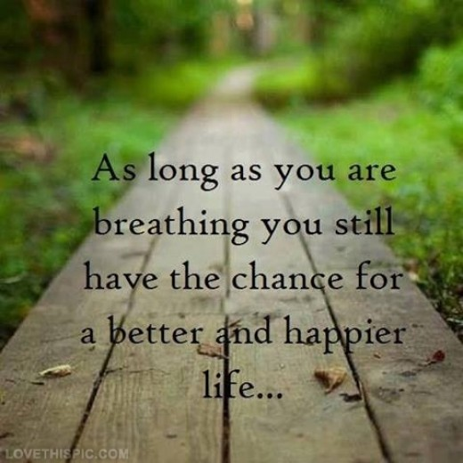 Saying about breath abd being happier