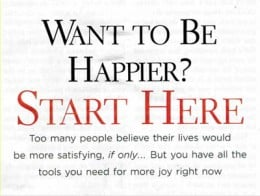 Saying about being happier.