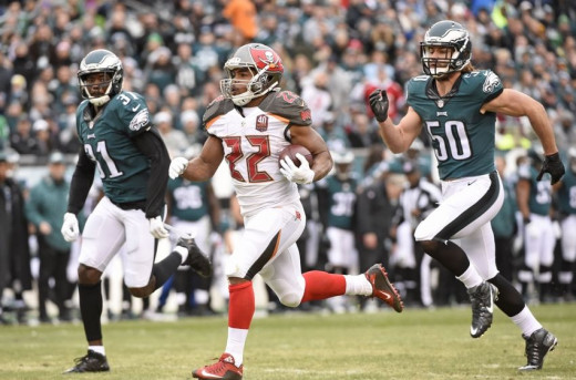 Tampa Bay Bucs RB Doug Martin rushed for 235 yards against the Eagles on Sunday