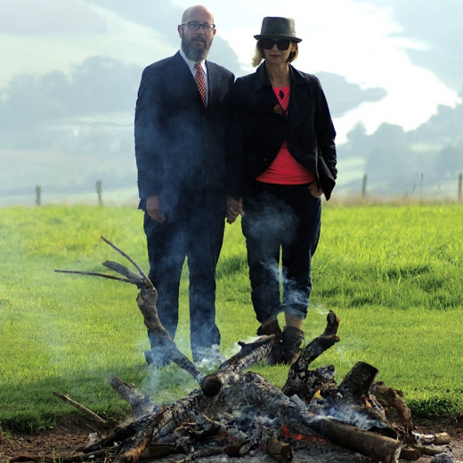 Rupert and Claire Callender of the Green Funeral Company
