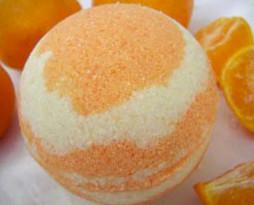 A Citrus Bath Bomb
