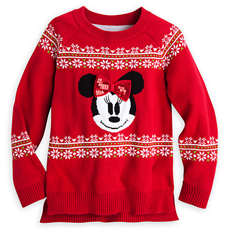 Minnie Mouse Christmas sweater from the Disney Store.