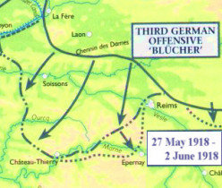 The German Operation Blucher, May, 1918