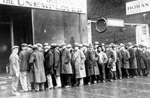 A soup line back in the 1930's.