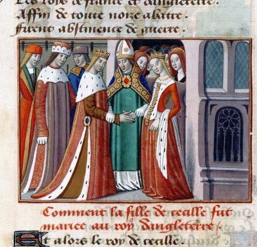 Portrait of a young Margaret of Anjou (featured on the right).