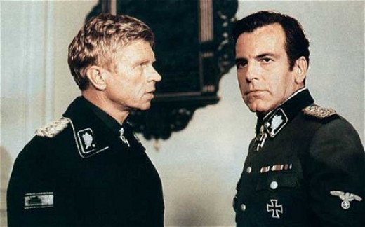 Hardy Kruger (left) Maximilian Schell (right) from The Longest Day