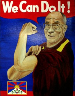 We Can Do It!  Dalai Lama Painting by Chadwick and Spector www.chadwickandspector.com