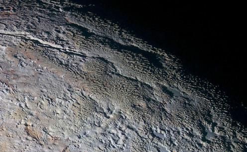"""""""Snakeskin"""" on Pluto"""