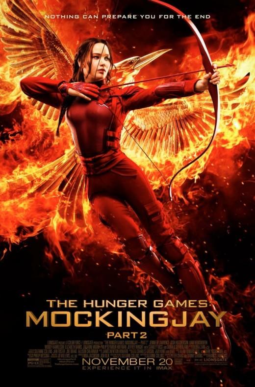 Movie poster for Mockingjay Part 2.