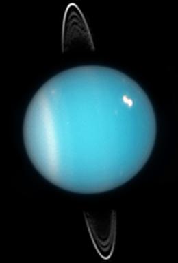 Uranus and it's rings.