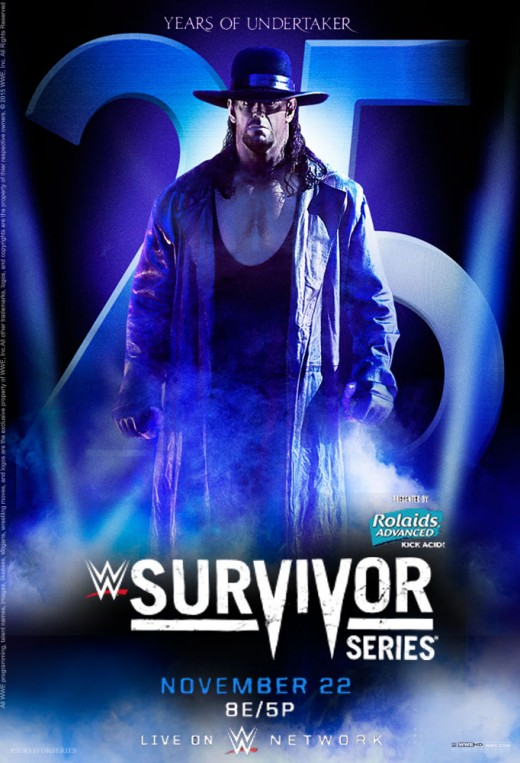 The poster for the event, depicting The Undertaker.