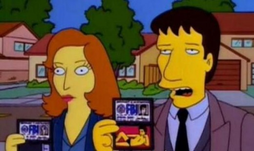 Mulder & Scully Simpsonised