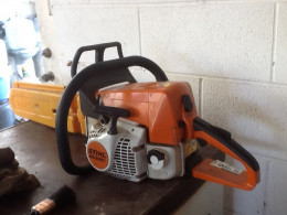 The trusty Stihl chainsaw