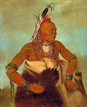 Osage man painted by the famous George Caitlin in the 1830s.