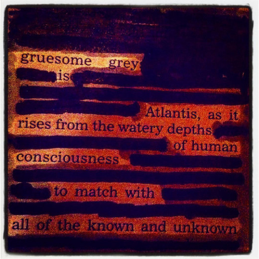 as it rises from the watery depths of human consciousness to match with all the known and unknown.