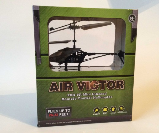$5 Air Victor remote-controlled helicopter from Five Below in box