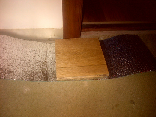 Off-cut and underlay