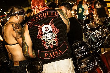 "The designs on the back of a biker's jacket are known as his ""colors,"" and you should respect him 110%."