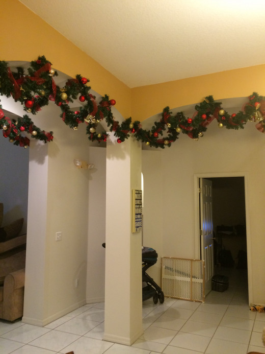 Finished garland