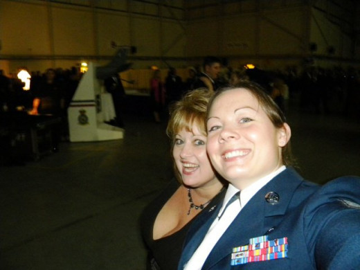 Air Force Ball with my mom (2010)