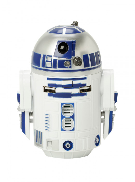 R2D2 portable phone charger from Hot Topic.