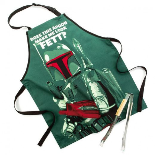Boba Fett apron with matching tongs from Hallmark.