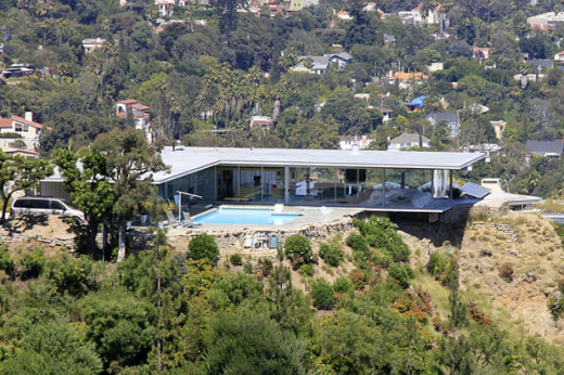 PERCHED ON A CLIFF ABOVE SUNSET BLVD.