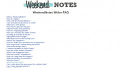 12 Tips For Writing Your First Weekendnotes Article
