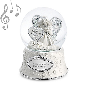 Personalized Miracle Angel Musical Snow Globe from Things Remembered