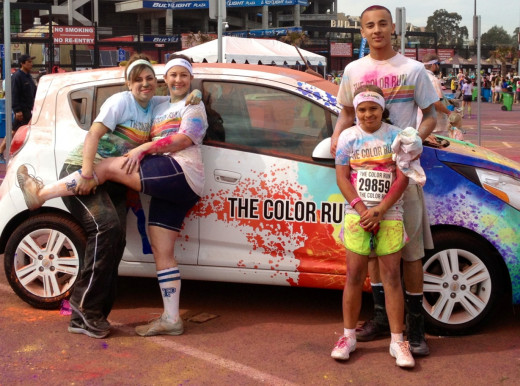 We ran the 5k Color Run together!