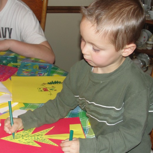 We make cards for widows in our church and residents at our nearby nursing home.