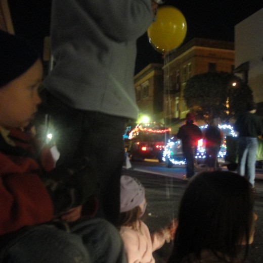 Watching the Christmas Parade