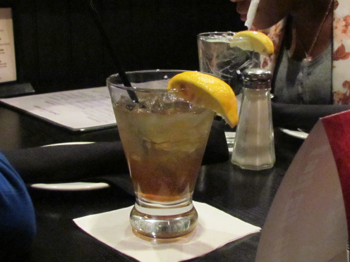 A top shelf Long Island Iced tea complemented the meal since I wasn't the driver back from NY.
