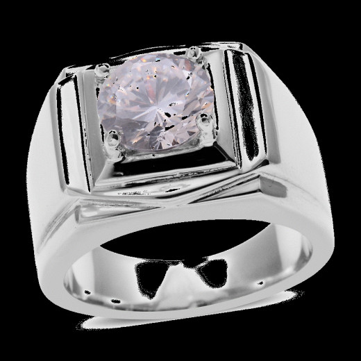 Solitaire ring with white possess