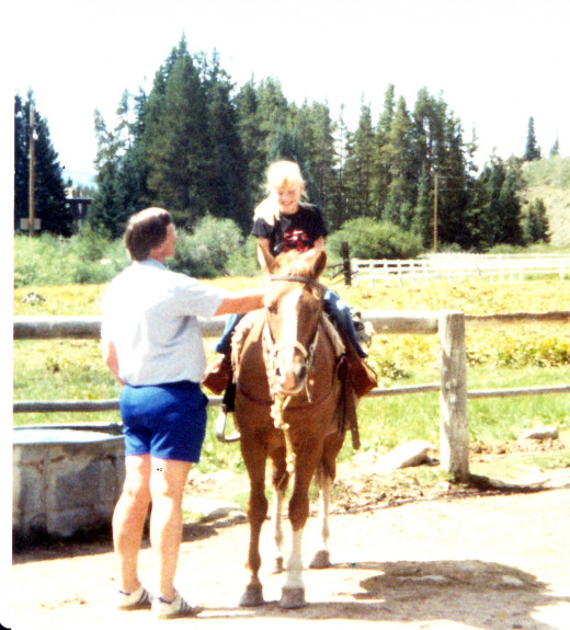 My first time on a horse