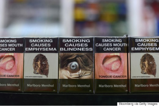 Graphic cigarette packing sold in Melbourne, Australia