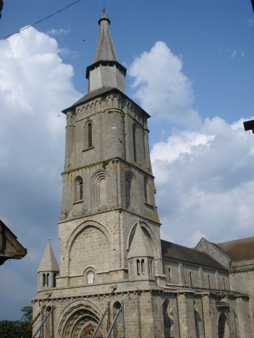 La Souterraine (Creuse, Fr), churchtower
