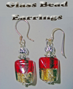 Glass Bead Earrings - Cheap Presents