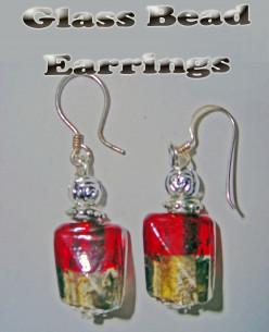 Glass Bead Earrings - Cheap Presents